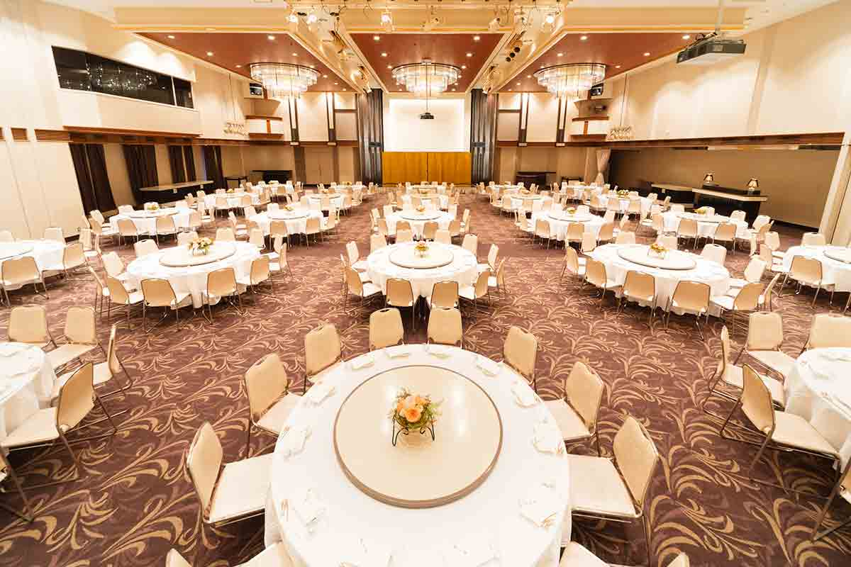 """Dining party for 540 people / Convention hall """"Nichirin no ma"""""""