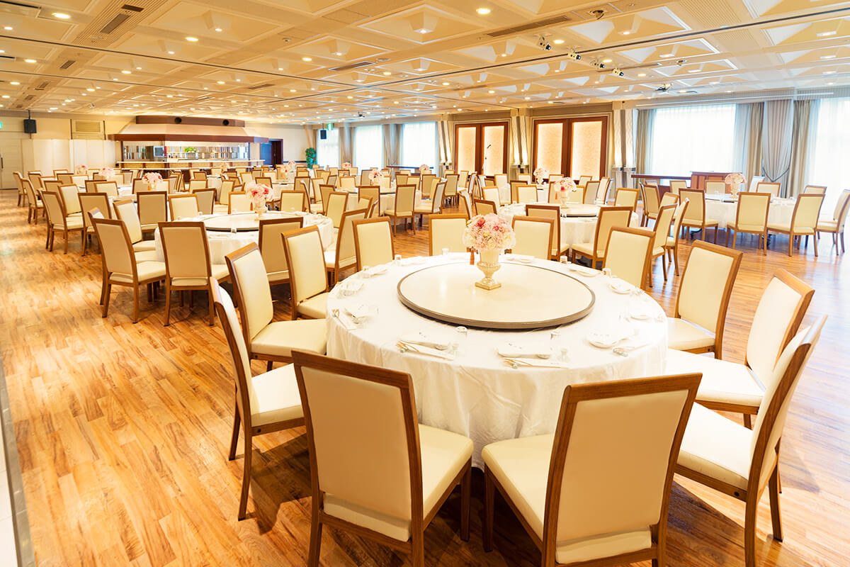 """Dining party for 240 people / Convention hall """"Taiyo no ma"""""""