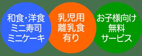 和食・洋食 ミニ寿司 ミニケーキ/乳児用 離乳食 有り/お子様向け 無料 サービス