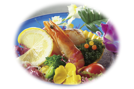 沖縄風魚介のグリル