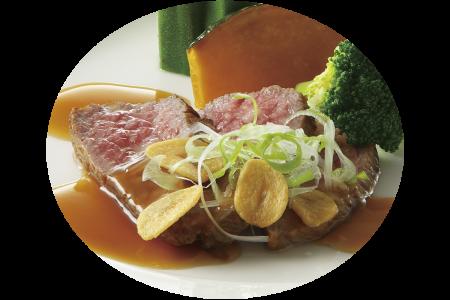 香川オリーブ牛ステーキ 和風ソース
