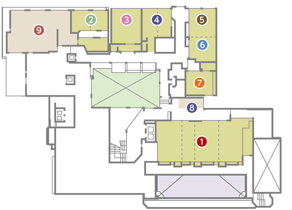 城西館 2樓 層面圖