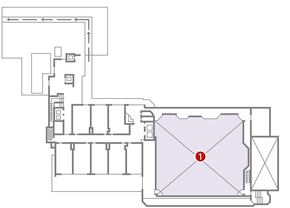 城西館 4樓 層面圖