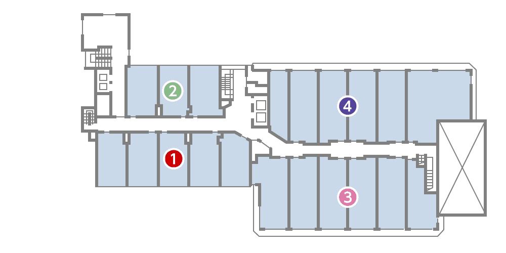 城西館 5樓 層面圖
