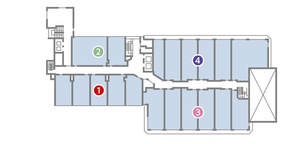 城西館 6樓 層面圖