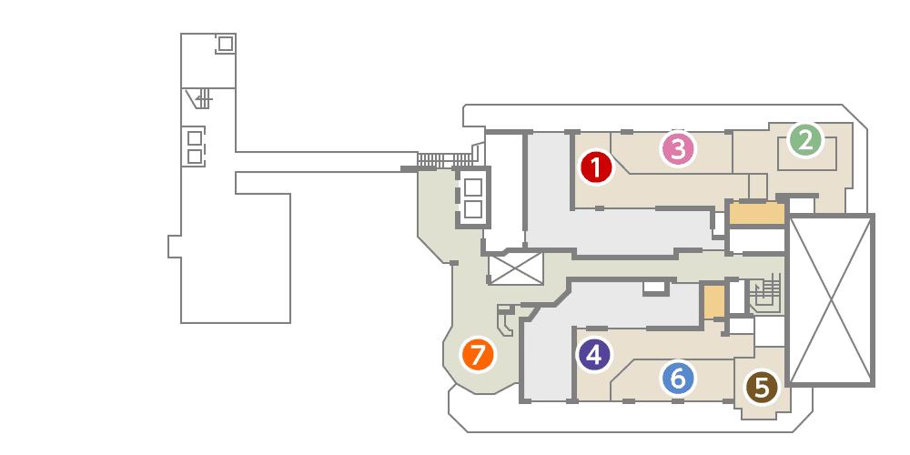 城西館 8館 フロア図