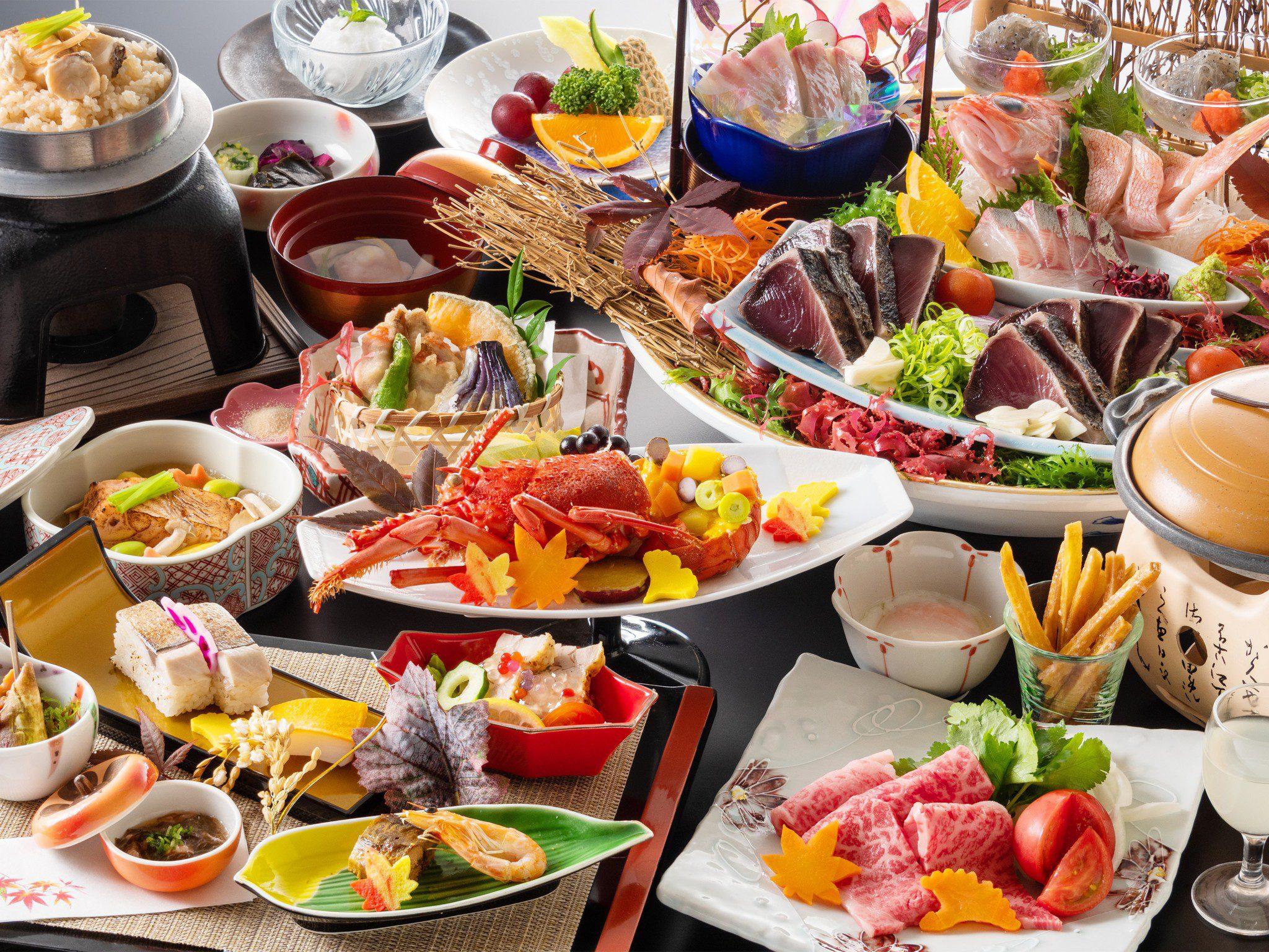 皿鉢料理と土佐風会席イメージ