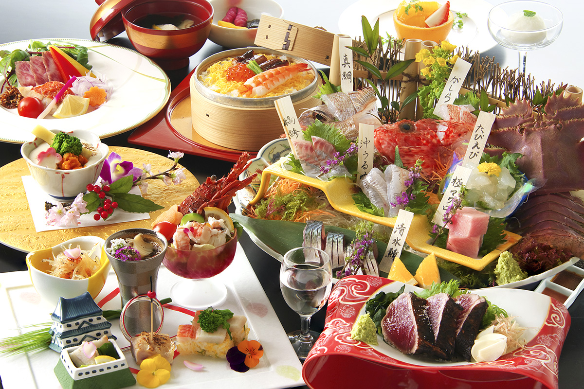 料理長厳選!土佐の銘魚七種盛り皿鉢付「祝の華会席」
