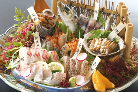 土佐銘魚7種盛り合わせ皿鉢