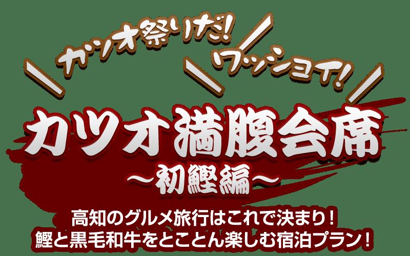 カツオ祭りだ!ワッショイ!「カツオ満腹会席 初鰹編」