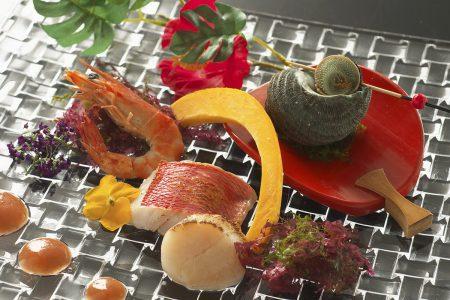 魚貝のグリル夏野菜添え