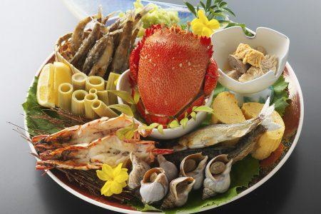 組皿鉢/煮貝、出汁巻き、焼き物、和合物、煮野菜、揚げ物
