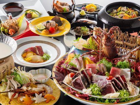 【旬彩物語/秋麗コース】旬の伊勢海老に鮑、松茸、土佐あかうしやのどぐろなど秋の味覚を食べ尽くす