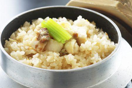 御飯「鯛と土佐生姜の釜飯」