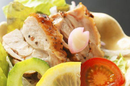 前菜「四万十鶏香味焼き」