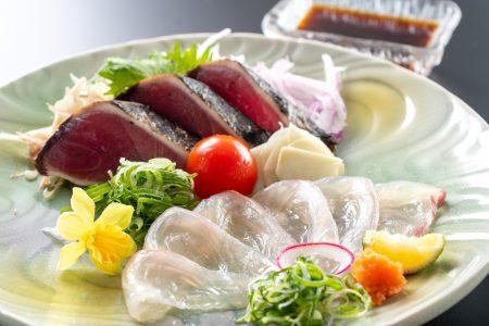 【須崎産乙女鯛のうす造り】もちもちとした食感が特徴の乙女鯛はさっぱりポン酢でお召し上がりください