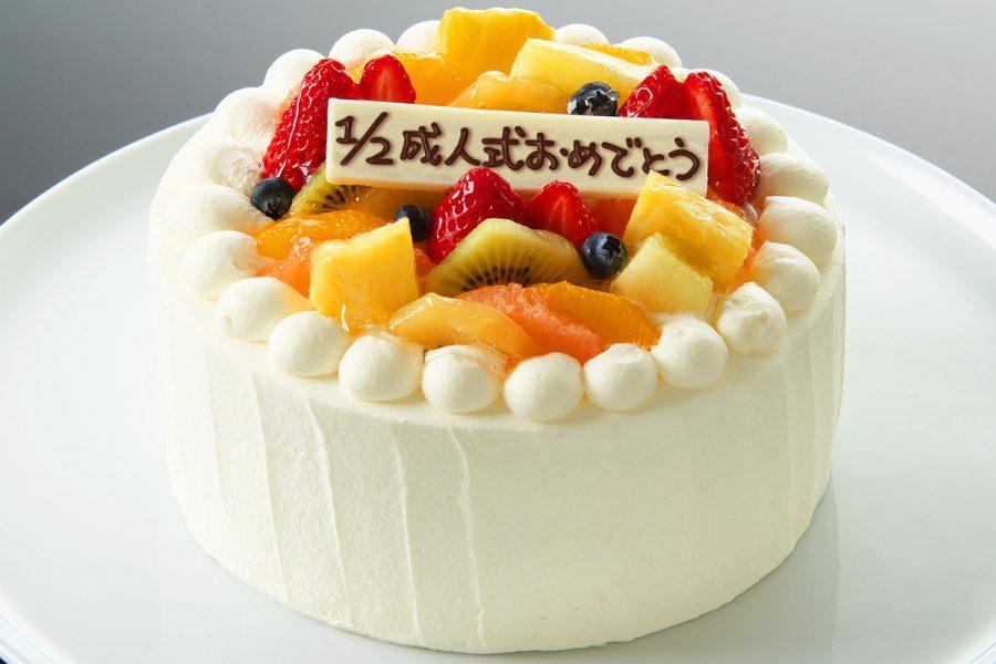 記念のケーキ「1/2成人式おめでとう」