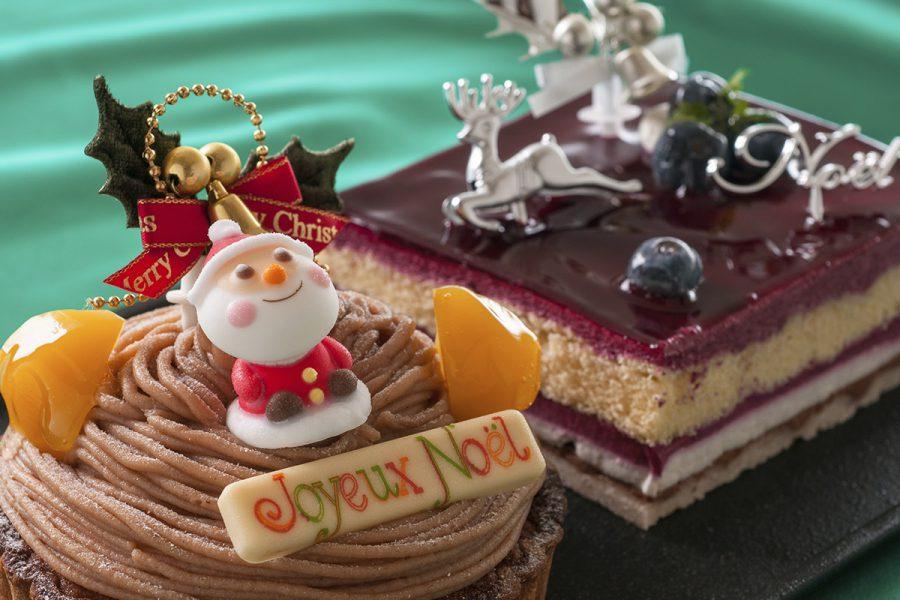 クリスマスケーキ デュエット(モンブラン&カシス)