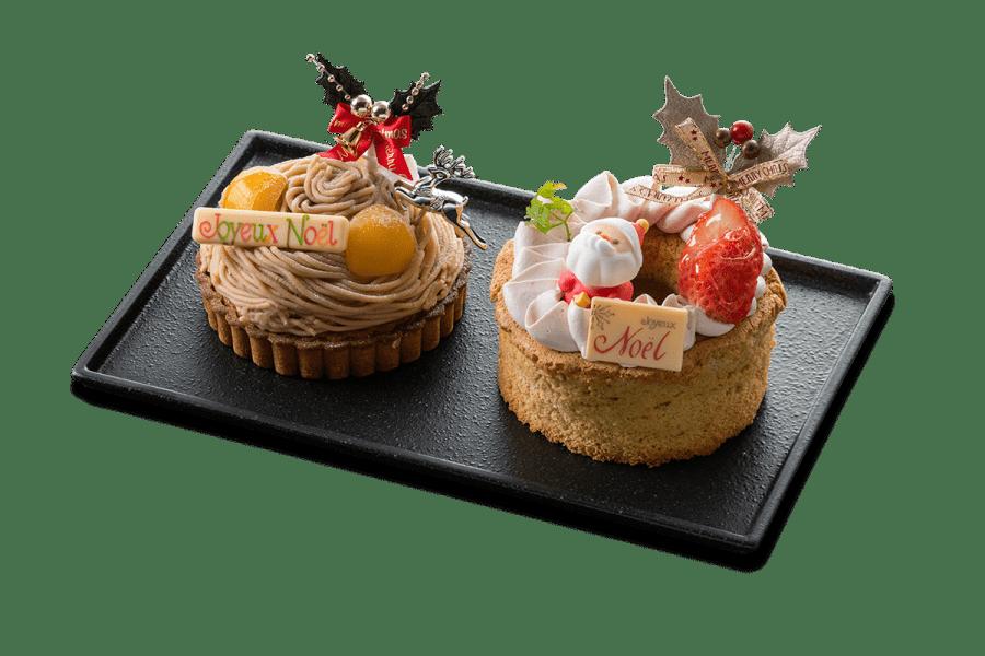 城西館のクリスマスケーキ2020「デュエット」