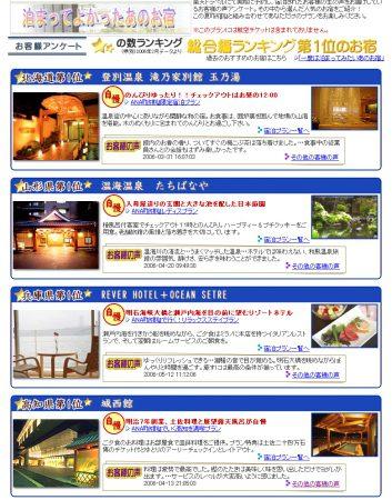 「泊まって良かったあのお宿」総合ランキング高知県第1位としてご紹介いただきました。